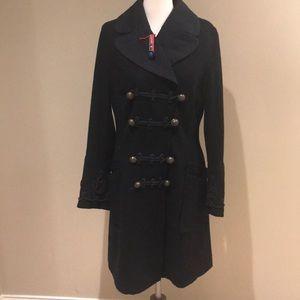 Oilily 42 wool coat black Euc